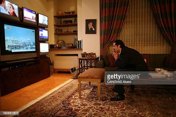 Rendezvous With Saad Hariri Samedi 2 juin dans son palais de Koraytem dans l'ouest de Beyrouth Saad HARIRI regarde sur Cnn les mouvements de l'armée...