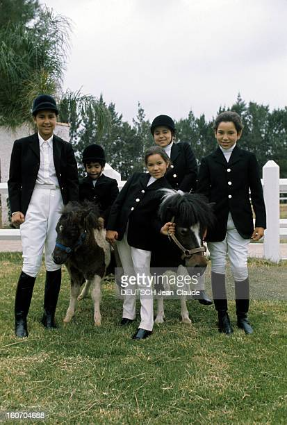 Rendezvous With Sidi Mohammed The Crown Prince Of Morocco Rabat juillet 1976 Le jeune prince héritier Sidi MOHAMMED pose debout parmi ses soeurs Lala...