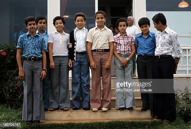 Rendezvous With Sidi Mohammed The Crown Prince Of Morocco Rabat juillet 1976 Portrait de groupe du jeune prince héritier Sidi MOHAMMED entouré de ses...