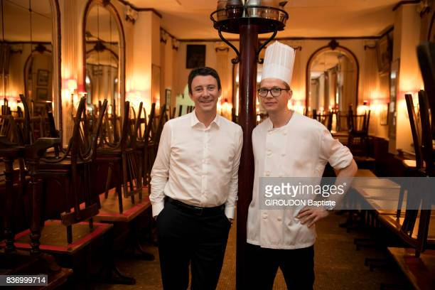 Rendezvous with the politician Benjamin Griveaux in Paris at the restaurant Chez Georges with the chef Yann Chair on August 2 2017