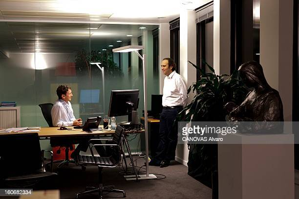 Rendezvous With Xavier Niel Founder Of Free Rendezvous avec Xavier NIEL à l'occasion du lancement de Free mobile des abonnement téléphoniques...
