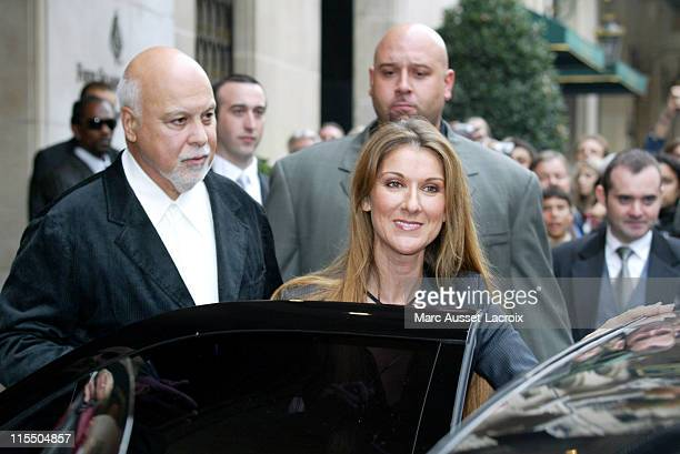 Rene Angelil and Celine Dion during Celine Dion On Tour in Paris to Promote Her New CD 'On ne change pas' October 7 2005 at Four Seasons Hotel...