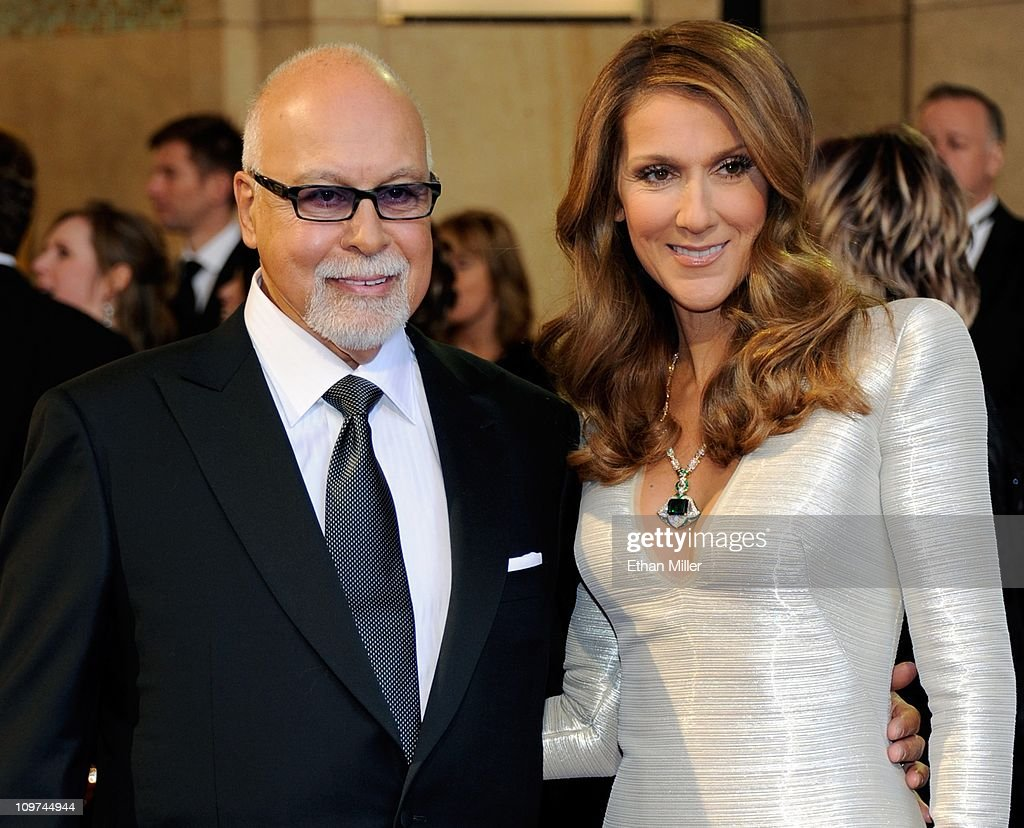 Rene Angelil (L) and his wife, singer <a gi-track='captionPersonalityLinkClicked' href=/galleries/search?phrase=Celine+Dion&family=editorial&specificpeople=202973 ng-click='$event.stopPropagation()'>Celine Dion</a>, arrive at the 83rd Annual Academy Awards at the Kodak Theatre February 27, 2011 in Hollywood, California.