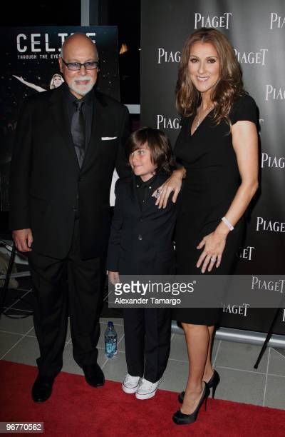 Rene Angelil ReneCharles Angelil and Celine Dion attend the premiere of Celine Through The Eyes of The World presented by Piaget at Regal South Beach...