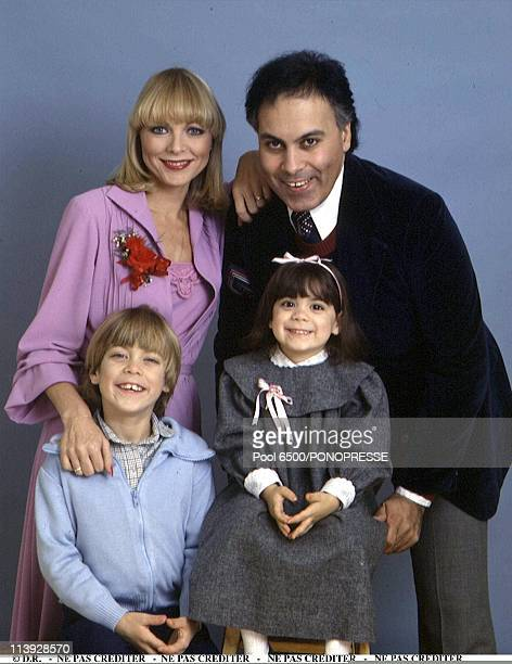 Rene Angelil with his first wife Anne Rene Kirouak and children In Canada In August 1999