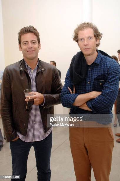 Rene Arsenault and Jake Paltrow attend Taryn Simon CONTRABAND at Gagosian Gallery at Gagosian Gallery on September 22 2010 in Beverly Hills California