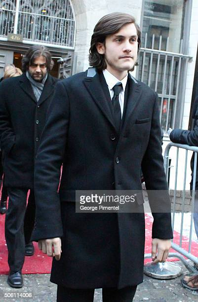 Rene Charles Angelil attends the public memorial service for his father's Celine Dion's husband Rene Angelil at NotreDame Basilica on January 21 2016...