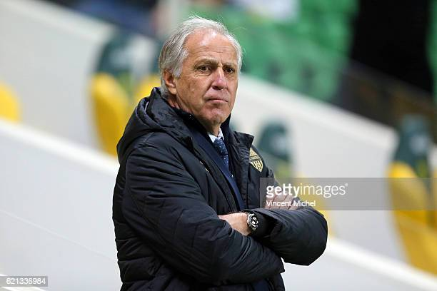 Rene Girard headcoach of Nantes during the Ligue 1 match between Fc Nantes and Toulouse Fc at Stade de la Beaujoire on November 5 2016 in Nantes...