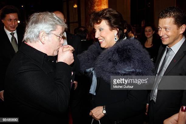 Rene Julien Praz and Roselyne Bachelot attend the 25th anniversary dinner for ''AIDS International'' at Les BeauxArts de Paris on November 28 2009 in...