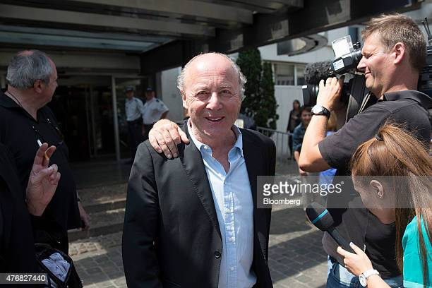 Rene Kojfer the Carlton Hotel's director of marketing reacts outside the courthouse in Lille France on Friday June 12 2015 Dominique StraussKahn the...