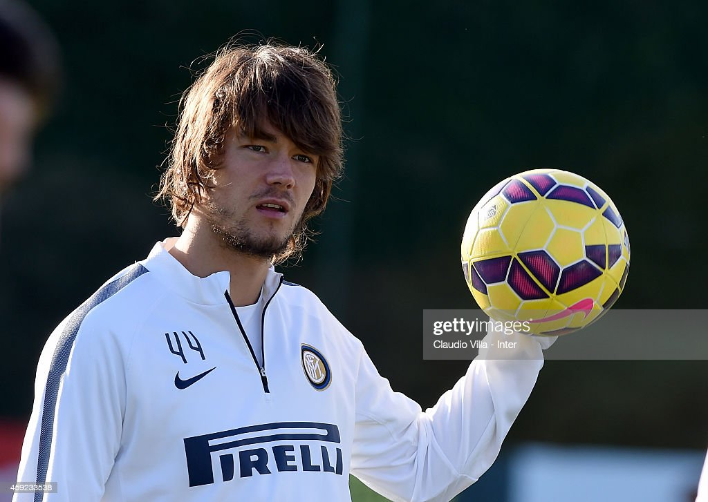 Rene Krhin during FC Internazionale Training Session at Appiano Gentile on November 19, 2014 in Como, Italy.