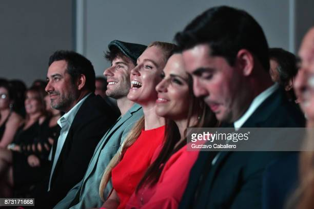 Rene LavanJordan WallSheena ColetteCristina Figarola and Noel Mirabal attends the Hialeah Series Premiere at the Milander Center for Arts and...