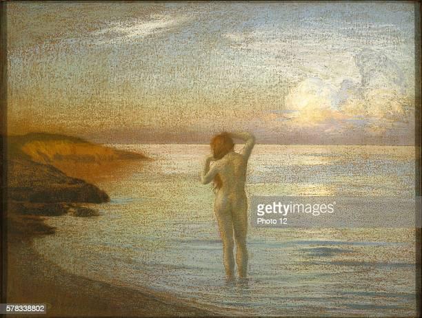 Rene Menard French school Bather on the shore Baigneuse sur la greve c1907 Private collection
