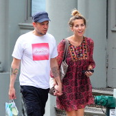 Rene Perez of Calle 13 and Soledad Fandino are seen in Soho on September 10 2013 in New York City