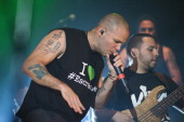 Rene Perez of Calle 13 performs on stage on day one of Cruilla at Parc Del Forum on July 11 2014 in Barcelona Spain