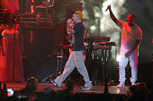 Rene Perez of Calle 13 performs on Tego Calderon Concert 'La Trayectoria' at Coliseo Jose M Agrelot on August 28 2015 in San Juan Puerto Rico