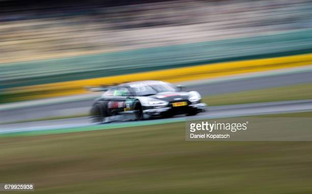 Rene Rast of Audi Sport Team Rosberg in action during the qualifying for race 2 of the DTM German Touring Car Hockenheim at Hockenheimring on May 7...
