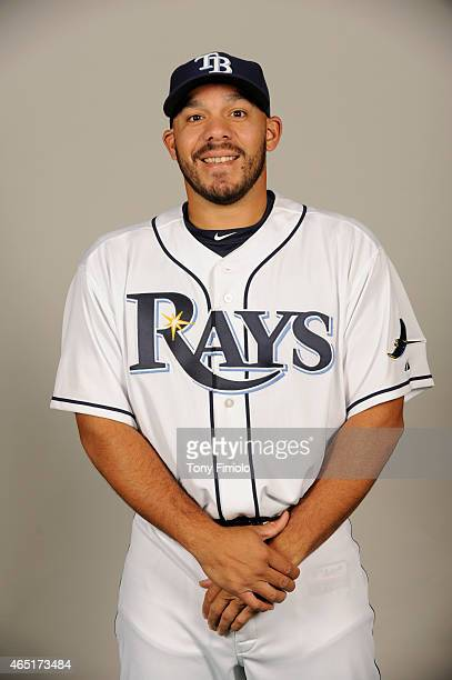 Rene Rivera of the Tampa Bay Rays poses during Photo Day on Friday February 27 2015 at Charlotte Sports Park in Port Charlotte Florida