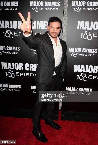 Rene Rosado at TNT's 'Major Crimes' 100th episode celebration at 71Above on October 7 2017 in Los Angeles California
