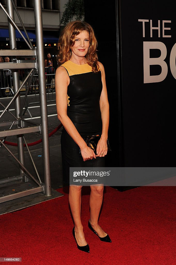 Rene Russo attends 'The Bourne Legacy' New York Premiere at Ziegfeld Theater on July 30, 2012 in New York City.