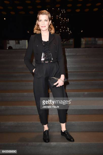 Rene Russo attends the Dolce Gabbana show during Milan Fashion Week Fall/Winter 2017/18 on February 26 2017 in Milan Italy