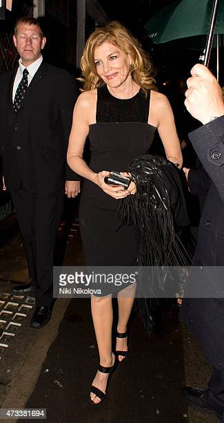 LONDON ENGLAND May 14 Rene Russo is seen arriving at the Ivy restaurant Soho on May 14 2015 in London England
