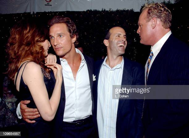 Rene Russo Matthew McConaughey DJ Caruso director of 'Two for the Money' and Brandon Lang