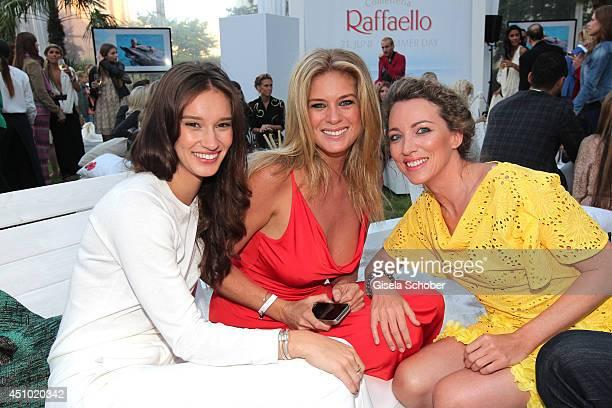 Rene Stewart her mother Rachel Hunter and Sanny van Heteren attend the Raffaello Summer Day 2014 at Kronprinzenpalais on June 21 2014 in Berlin...