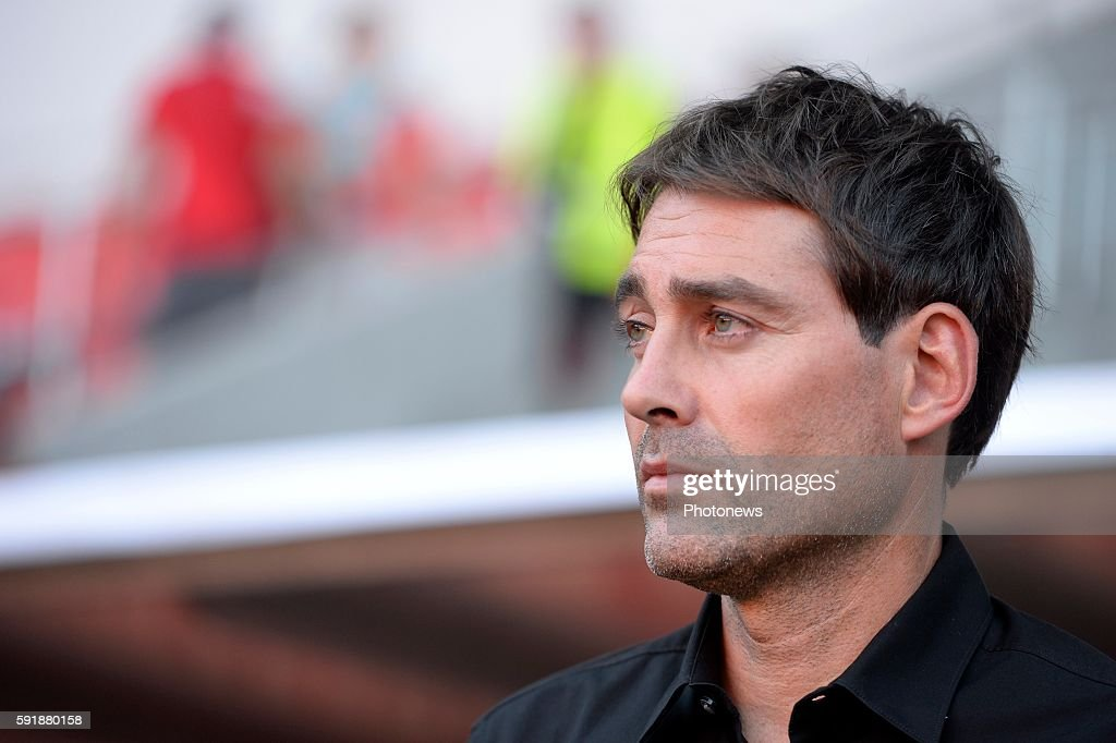Rene Weiler head coach of RSC Anderlecht pictured during europa league match play off between RSC Anderlecht and Slavia Prague on August 18 2016 in...