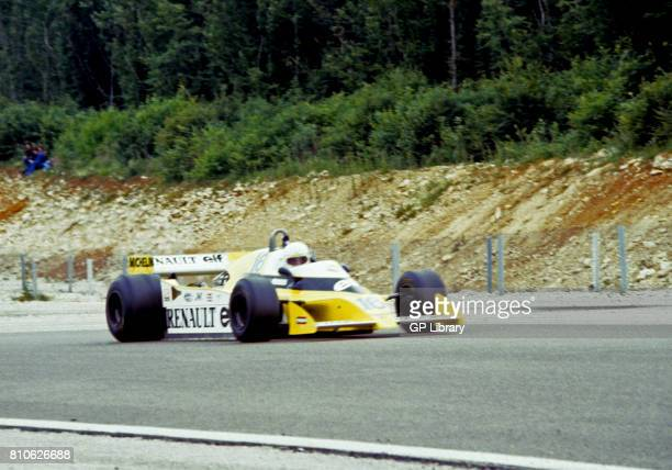Renee Arnoux driving a Renault RS10 at Dijon French GP 2nd