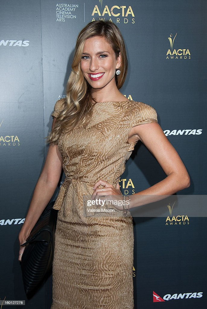 Renee Bargh arrives at Australian Academy Of Cinema And Television Arts' 2nd AACTA International Awards at Soho House on January 26, 2013 in West Hollywood, California.