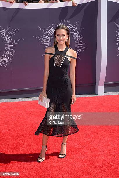 Renee Bargh arrives at the 2014 MTV Video Music Awards at The Forum on August 24 2014 in Inglewood California