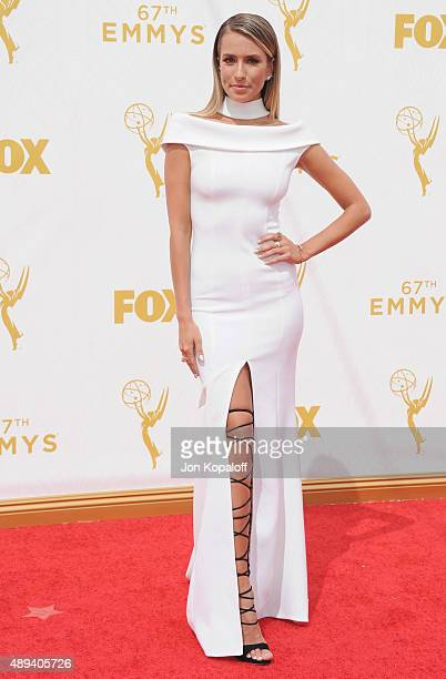 Renee Bargh arrives at the 67th Annual Primetime Emmy Awards at Microsoft Theater on September 20 2015 in Los Angeles California