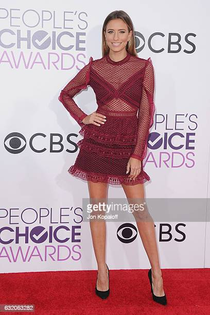 Renee Bargh arrives at the People's Choice Awards 2017 at Microsoft Theater on January 18 2017 in Los Angeles California
