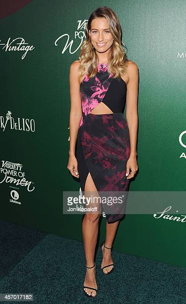 Renee Bargh arrives at Variety's 2014 Power Of Women Event In LA Presented By Lifetime at the Beverly Wilshire Four Seasons Hotel on October 10 2014...