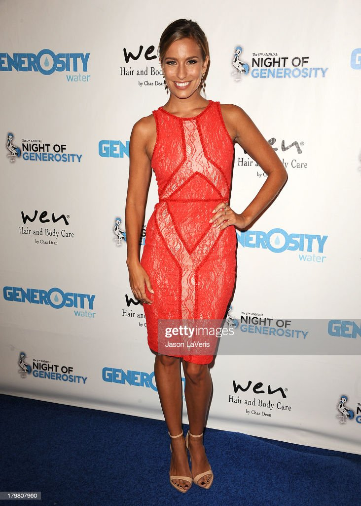 <a gi-track='captionPersonalityLinkClicked' href=/galleries/search?phrase=Renee+Bargh&family=editorial&specificpeople=4267341 ng-click='$event.stopPropagation()'>Renee Bargh</a> attends Generosity Water's 5th annual Night of Generosity benefit at Beverly Hills Hotel on September 6, 2013 in Beverly Hills, California.