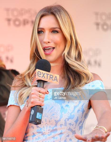 Renee Bargh attends Topshop Topman LA Grand Opening at The Grove on February 14 2013 in Los Angeles California