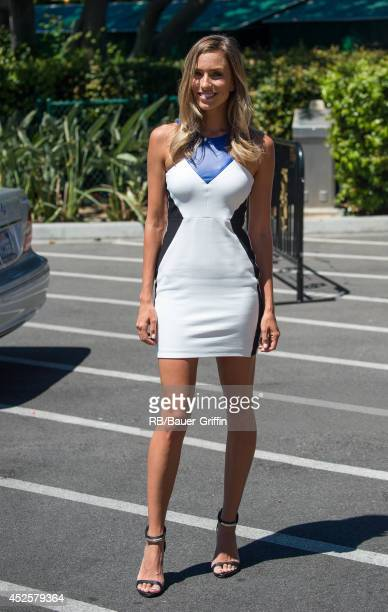 Renee Bargh is seen at 'Extra' on July 23 2014 in Los Angeles California