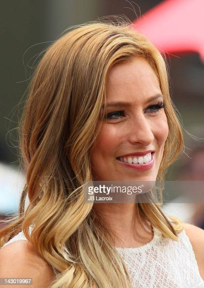 Renee Bargh is seen at The Grove on April 17 2012 in Los Angeles California