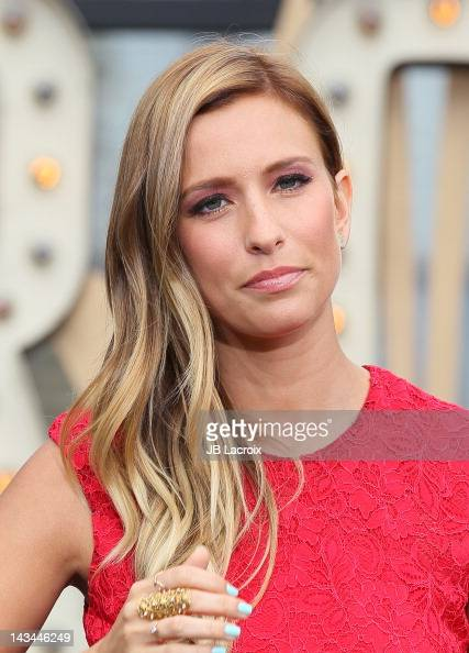 Renee Bargh is seen at The Grove on April 26 2012 in Los Angeles California
