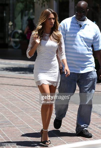 Renee Bargh is seen at The Grove on July 17 2013 in Los Angeles California