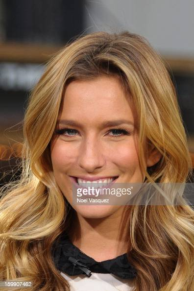 Renee Bargh visits Extra at The Grove on January 22 2013 in Los Angeles California