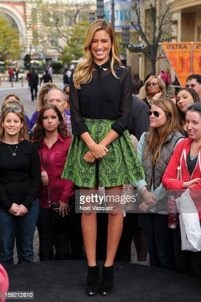 Renee Bargh visits Extra at The Grove on January 9 2013 in Los Angeles California
