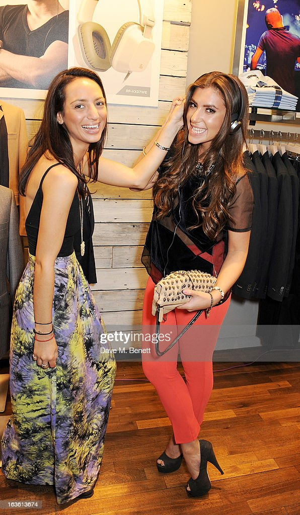 Renee Catania and Gabriella Ellis attend the Panasonic Technics 'Shop To The Beat' Party hosted by George Lamb at French Connection Oxford Circus on...