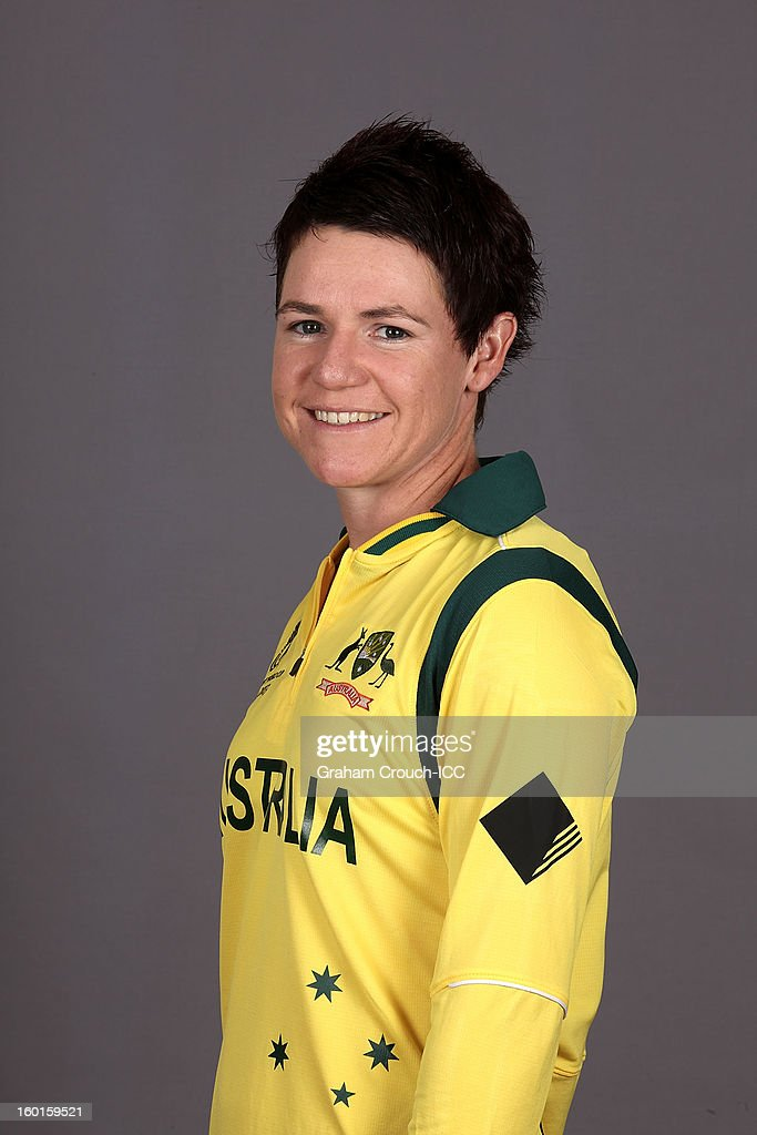Renee Chappell of Australia attends a portrait session ahead of the ICC Womens World Cup 2013 at the Taj Mahal Palace Hotel on January 27, 2013 in Mumbai, India.