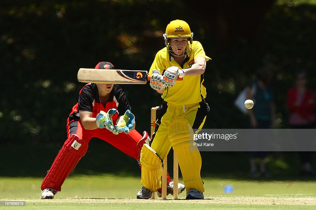 Renee Chappell of the Fury bats during the WNCL match between the Western Australia Fury and the South Australia Scorpions at Christ Church Grammar Playing Fields on December 8, 2012 in Perth, Australia.