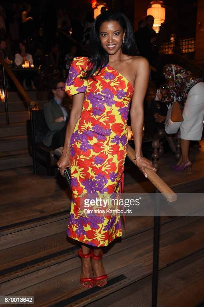 Renee Elise Goldsberry attends the after party for'The Immortal Life of Henrietta Lacks' premiere at TAO Downtown on April 18 2017 in New York City