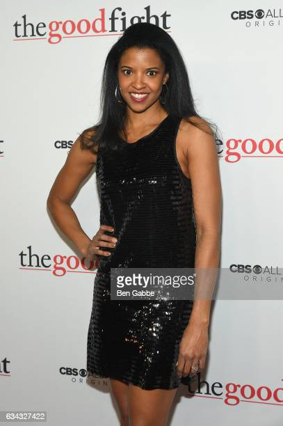 Renee Elise Goldsberry attends 'The Good Fight' World Premiere at Jazz at Lincoln Center on February 8 2017 in New York City