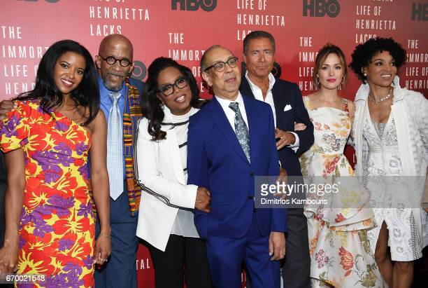 Renee Elise Goldsberry Reg E Cathey Oprah Winfrey George C Wolfe Richard Plepler Rose Byrne and Lisa Arrindell attend 'The Immortal Life of Henrietta...