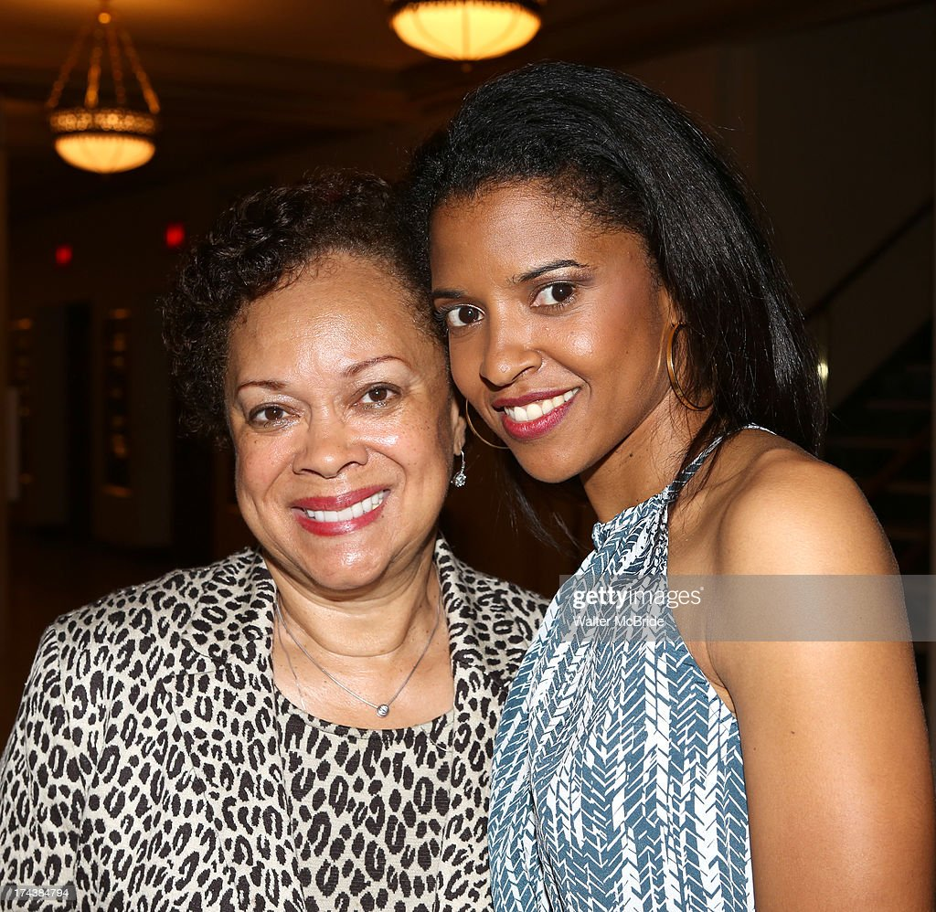 Renee Elise Goldsberry with her Mom attend the Opening Night Performance Reception for the Encores! Off-Center Production of 'I'm Getting My Act Together And Taking It On The Road' Opening Night Reception at New York City Center on July 24, 2013 in New York City.